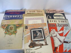 Lot Of 11 Vintage Sheet Music Mammy O'mine, Doll Dance And More