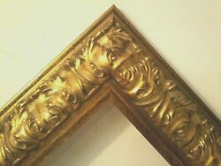 20 X 28 Std Picture Frame 3 1/2 Wide Reverse Antiqued Gold W/ Glazing Backing