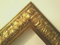 24 X 36 Std Picture Frame 3 1/2 Wide Reverse Antiqued Gold W/ Glazing Backing