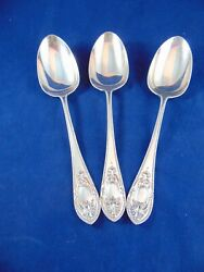 3 X Antique Silver Plated Serving Spoons James Ballantyne Glasgow 1861