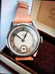 Omega Vintage 1938. Full Set Box And Papers With Service History - Very Rare