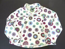 L.l. Bean T-snap Multi-colored Flower Pattern Fleece Pullover Womenand039s Size 2x