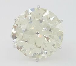 14.33 Ct Vintage Round Cut Diamond Solitaire Engagement Ring Gia Rtl 450000