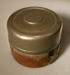 Travel Inkwell With Partial Leather Covering