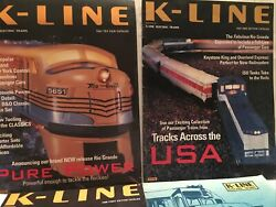 K-line Electric Train Catalogs '97 Toy Fair, 2nd Edition, '98 First Ed, 2nd Ed.