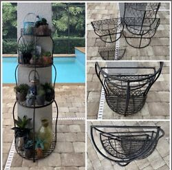 Vintage Home Interiors 6ft Metal 4 Tiers Tower Organizer Storage In3 Side Tables