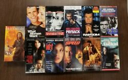 Lot Of 11 Vhs Tapes Assorted Movies Mel Gibson And Sandra Bullock Braveheart 4