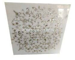 3and039 Mother Of Pearl Floral Inlay Marble Dining Table Top Interior Home Decor W462