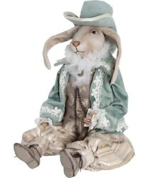 Hand-painted Collectible Doll Rabbit Mr. Egle Interior Porcelain Doll Size 50 Cm