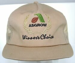 Vtg 70s Asgrow Winner's Choice K-products Snapback Cap Farm Seed Agriculture Hat
