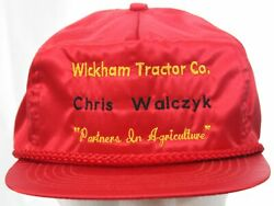 Vtg 70s Chris Walczyk Wickham Tractor Co. Partners In Agriculture Hat Cap Nwot