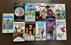 Lot Of 11 Vhs Tapes Assorted Movies Comedy - Happy Gilmore / Major League  9
