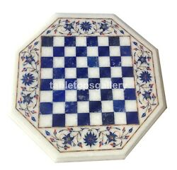 15 Marble Coffee Chess Table Top Lapis Floral Mosaic Inlay Home Decorative W549