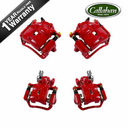 Front And Rear Red Brake Pair Calipers For 2000 2001 Infiniti I30 Nissan Maxima