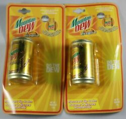 Vintage Mountain Dew Livewire Lip Balm In A Can Design Lot Of 2