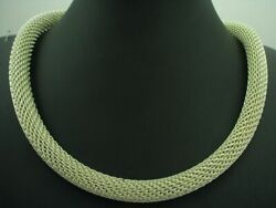 925 Sterling Silver Collier /solid/ Real Silver / Ø 9,4 Mm / 91,0g/48,5 Cm