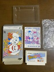 Super Rare Game Soft Famicom 『snow Bros』box And With An Instructions From Japan①