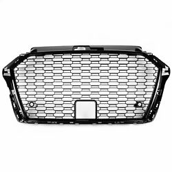Rs3 Style Front Mesh Grille For 17+ Audi A3 S3 8v - Gloss Black