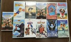 Lot Of 11 Vhs Tapes Assorted Movies Childrens Kids Clamshell - Free Willy  13