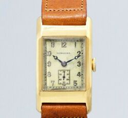 Longines 18kyg Small Second Original Dial Manual Vintage Watch 1930and039s