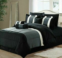 New Empire Home Gray Black 3 Tone Comforter Set End of Year Sale 50% Off