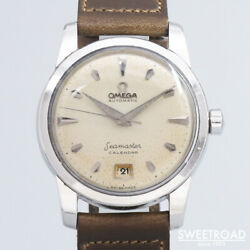 Omega Seamaster Calendar 2757-4sc Automatic Winding Vintage Watch 1954's