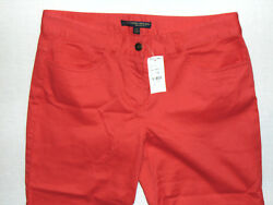 346 Brooks Brothers Natalie Fit Ladies Red Chinos Trousers Pants W29 L32