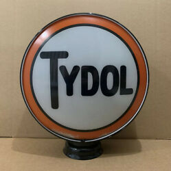 Vintage Tydol Glass Gas Pump Globe Top Original Station Garage Ethyl Sign Oil