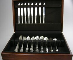 52 Pc Oneida Affection Silverplate Service 8 Serving Spoons Sugar Butter Knife