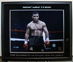 Iron Mike Tyson Heavy Weight Boxing Champ Signed 8x10 Custom Framed