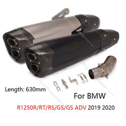 For Bmw R1250rt/rs/r/gs 2019 2020 Motorcycle Exhaust Pipe Dual-outlet Muffler 51