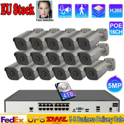 16ch 5mp Two Way Audio Home Audio Camera Security Poe Nvr System Remote Monitor