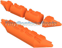 26x12and039 Dual Nose Modular Plastic Boat And Dock Pontoons Logs Floats Pair New