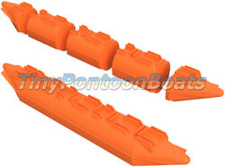 26x15and039 Dual Nose Modular Plastic Boat And Dock Pontoons Logs Floats Pair New