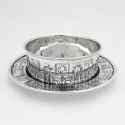 Alphabet Number Nursery Rhyme Childs Bowl Underplate Sterling Silver