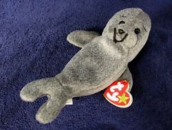 Beanie Babies SLIPPERY the Seal Retired Original TY Toy UNUSED NEW EE2