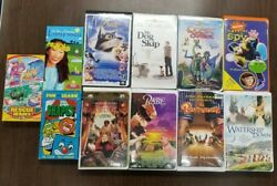 Lot Of 11 Vhs Tapes Assorted Movies Childrens - My Dog Skip / Balto  17
