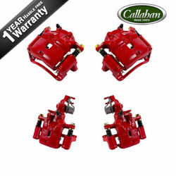 Front And Rear Red Powder Coated Calipers Pair For Infiniti I30 Nissan Maxima