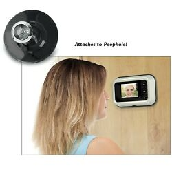 Digital Door Peephole Camera Zoom In Or Zoom Out 3x Clear Vision High Tech