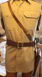 Wwii U. S. Army 1942 Sam Browne Belt Complete With Super Rare Lefty Holster