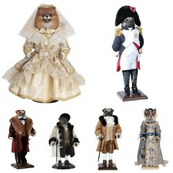 Hand-painted Collectible Doll Dog Porcelain Toy Interior Toys