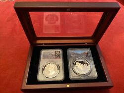 Jfk/trumpmore Coin Collectibles Encased Glass/wooden Presentation Wooden Box-new