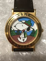 RARE Vintage Peanuts Camp Snoopy Beagle Scout Watch Analog Battery Works Great