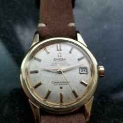 Mens Omega Constellation 34mm Gold-capped Date Automatic C.1950s Swiss Lv651tan