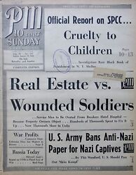 1-1944 Wwii January 23 Real Estate Vs. Wounded Soldiers - Costa Rico -spcc Ny Pm