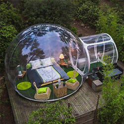 Clear Inflatable Bubble Dome Transparent Tent Snow Rain Protection Camping Tents
