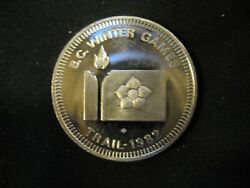 Collectible 1982 Trail Bc Winter Games 999 Silver Token - Low Mintage
