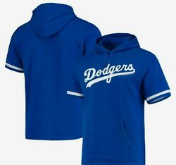 Los Angeles Dodgers Baseball French Terry Short Sleeve Hoody By Mitchell And Ness