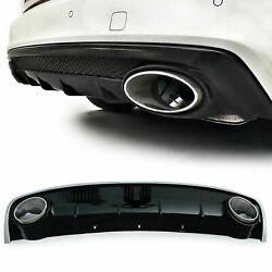 Rear Diffuser With Tailpipes Sport Looks For Audi A4 B8 Facelift 11-15