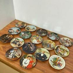 Lot Of 17 Vintage Norman Rockwell Knowles Collectors Plates